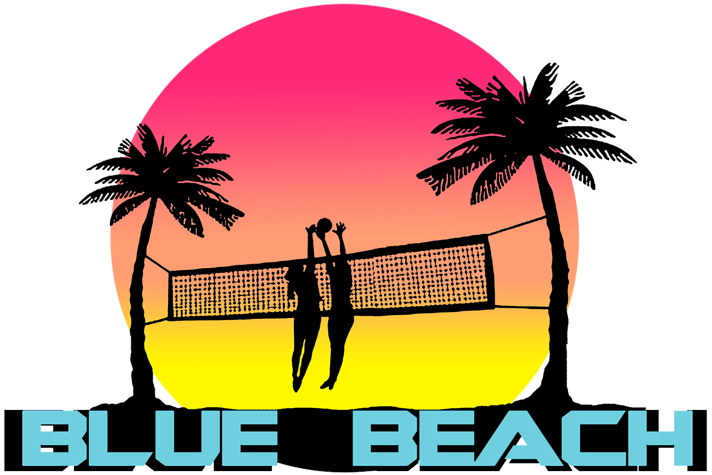Blue Beach Volleyball